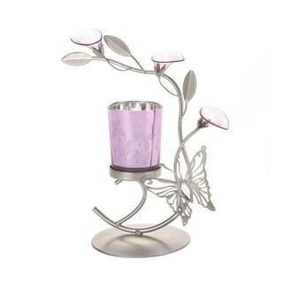 Koehler Home Decor Purple Butterfly Candleholder