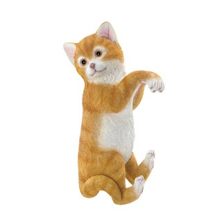 Koehler Home Decor Resin and Stone Climbing Cat Decor