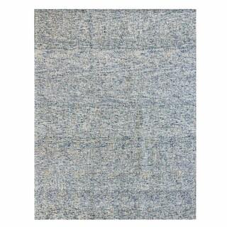 Gertmenian Avenue33 Traditional Blue Wool Hand-Tufted Rug (8' x 10')