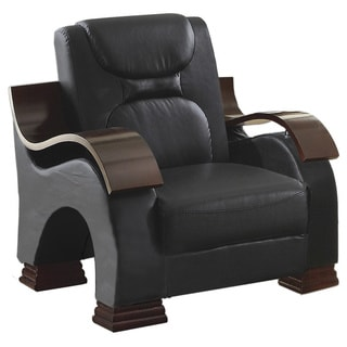 Lyke Home Faux Leather Chair
