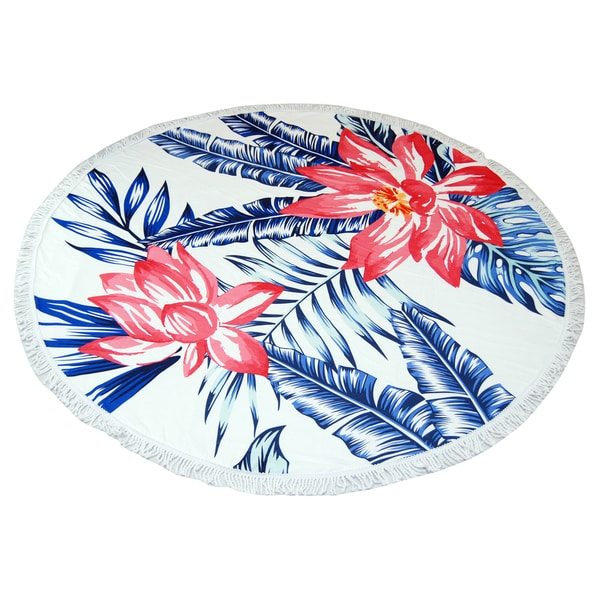 Palm Leaves 60-inch Round Beach Towel