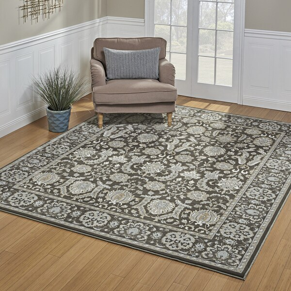 Gertmenian Avenue33 Majestic Hyde Deep Taupe Area Rug (6'6 x 9'6)