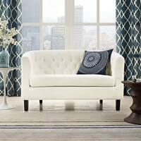 Porch & Den Silver Lake Allesandro Velvet Loveseat