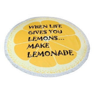 'When Life Gives You Lemons' 60-inch Round Beach Towel