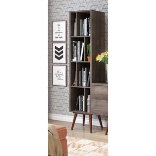 Ideaz International 23605 Terrarum Walnut Tall Cubby Bookcase