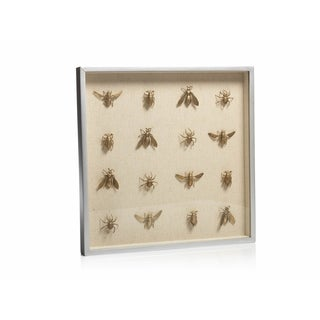 "16"" Tall Shadow Box Sculpture, Swarm of Insects"