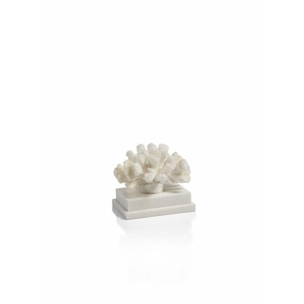 """""""Morgana"""" 6"""" Long Coral Sculptures, Rectangular Base"""