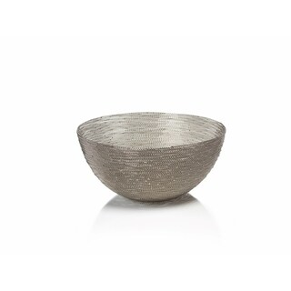 """Zulu"" 12"" Diameter Woven Wire Decorative Basket, Round Shaped"