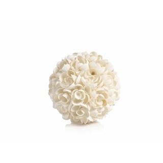 """El Nido"" 6.5"" Diameter Shell Decorative Ball"