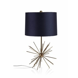 """Oslo"" 16"" Tall Brass Table Lamp"