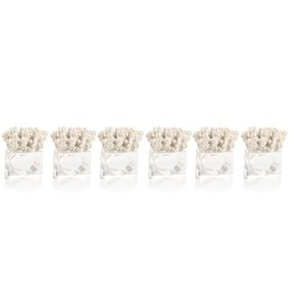 Lia Coral Napkin Rings, Set of 6
