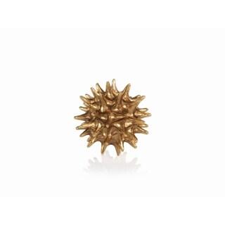 7-Inch Diameter Vanna Star Urchin Decorative Ball, Gold