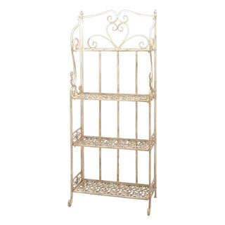 Antique White Bakers Rack