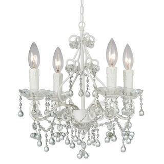 Buy mini chandeliers online at overstock our best lighting deals crystorama paris market collection 4 light wet white crystal mini chandelier aloadofball Gallery