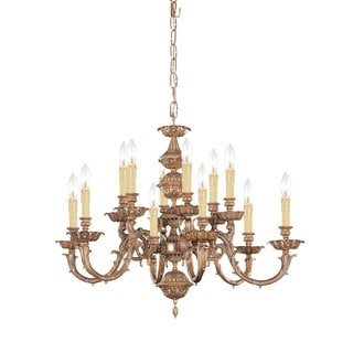 Crystorama Oxford Collection 12-light Olde Brass Chandelier