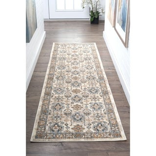 Tayse Rugs Fairfax Traditional Ivory Runner (2'3 x 11')