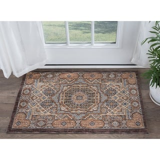 Alise Rugs Fairfax Traditional Oriental Scatter Mat Rug - 2' x 3'