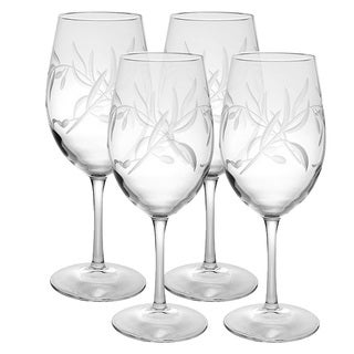 Olive Branch All-purpose 18-once Wine Glass (Set of 4)