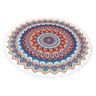 Mandala 60-inch Round Beach Towel