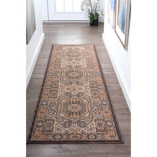 Tayse Rugs Fairfax Traditional Multicolor Runner (2'3 x 11')
