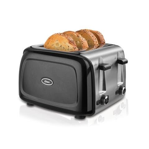 Oster 4 Slice Toaster, Metallic Black