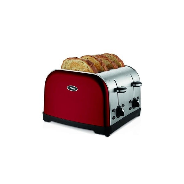 shop oster 4 slice toaster metallic red free shipping today overstock 16340951. Black Bedroom Furniture Sets. Home Design Ideas
