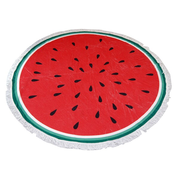 Watermelon 60-inch Round Beach Towel