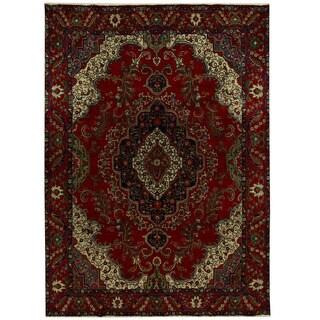 Herat Oriental Persian Hand-knotted Tribal Tabriz Wool Rug (9'7 x 13'4)
