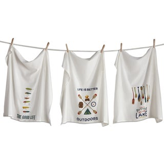 TAG Outdoors Flour Sack Dishtowel Set Of 3