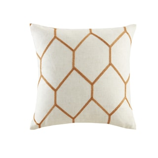 Madison Park Asher Metallic Geo Embroidered Pillow Pair 3 Color Option (Spice)