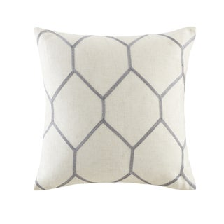 Madison Park Asher Metallic Geo Embroidered Pillow Pair 3 Color Option