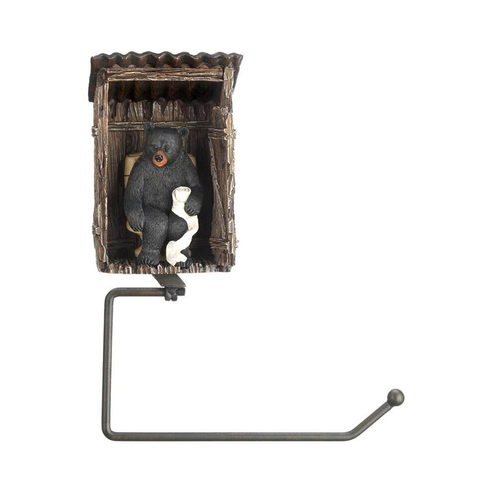 TOM & CO. Koehler Home Decor Outhouse Bear Toilet Paper H...