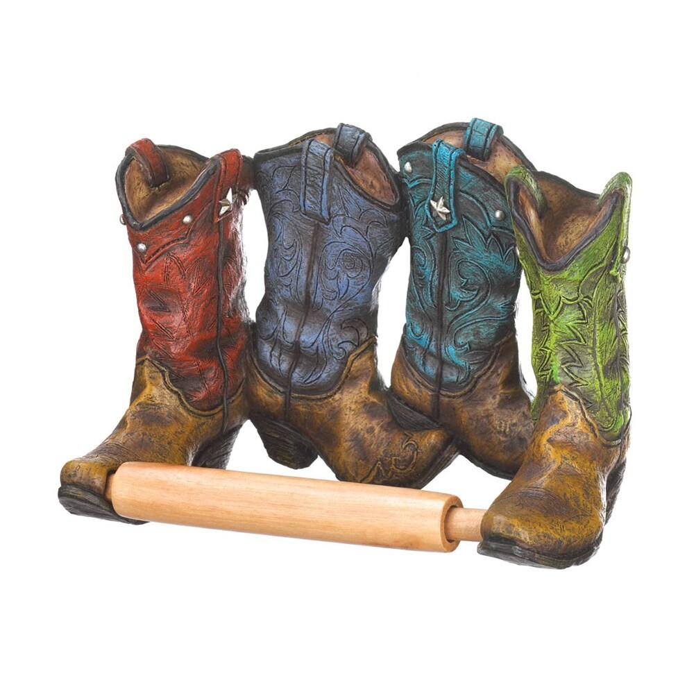 TOM & CO. Koehler Home Decor Cowboy Boots Toilet Paper Ho...