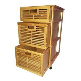 Bamboo Cabinet with 3 Drawers