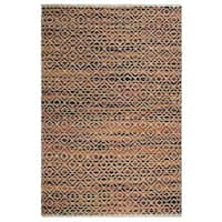 Handmade Fab Habitat 100% Sustainable Jute Area Rug Ecofriendly Natural Fibers, Handwoven Clark Multi Apricot (India) - 8' x 10'