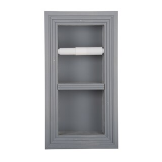 Solid Wood Recessed in wall Bathroom Double Toilet Paper Holder-Multiple Finishes (3 options available)