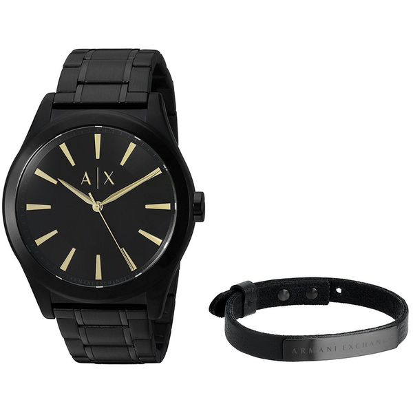 629785acc81c Shop Armani Exchange Men s AX7102  Active  Bracelet Gift Set Black ...
