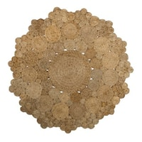 Fab Habitat 100% Sustainable Jute Area Rug Ecofriendly Natural Fibers, Handwoven/Cascades 8' Round - 8' Round