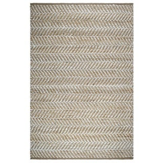 Fab Habitat 100% Sustainable Jute Area Rug Ecofriendly Natural Fibers, Handwoven Canyon Natural 3' X 5' (India)