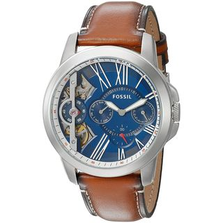 Fossil Men's ME1161 'Grant Mechanical Twist' Chronograph Brown Leather Watch