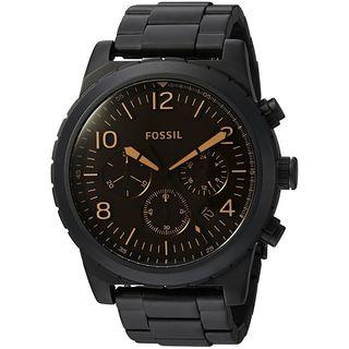 Fossil Men's CH3070 'Oakman' Chronograph Black Stainless Steel Watch