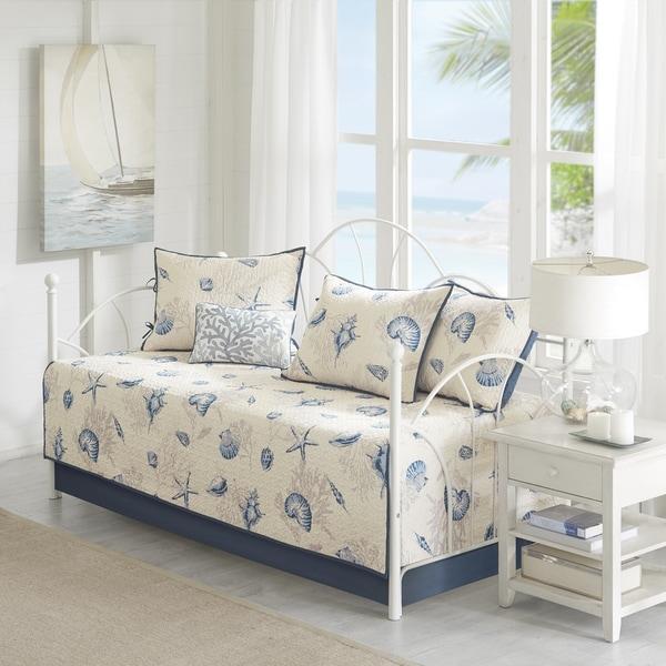 Madison Park Nantucket Blue 6-Piece Daybed Set