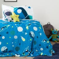 South Shore DreamIt Blue and Grey Cosmic Twin 4-piece Comforter Set