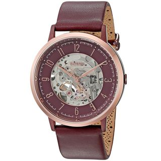 Fossil Men's ME3137 'Vintage Muse' Automatic Red Leather Watch