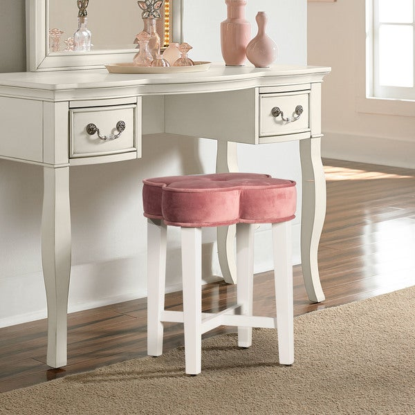 Shop Hillsdale Furniture Clover Vanity Stool In Blush