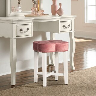 Hillsdale Furniture Clover Vanity Stool in Blush
