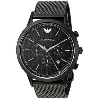 Emporio Armani Men's AR2498 'Dress' Chronograph Black Stainless Steel Watch