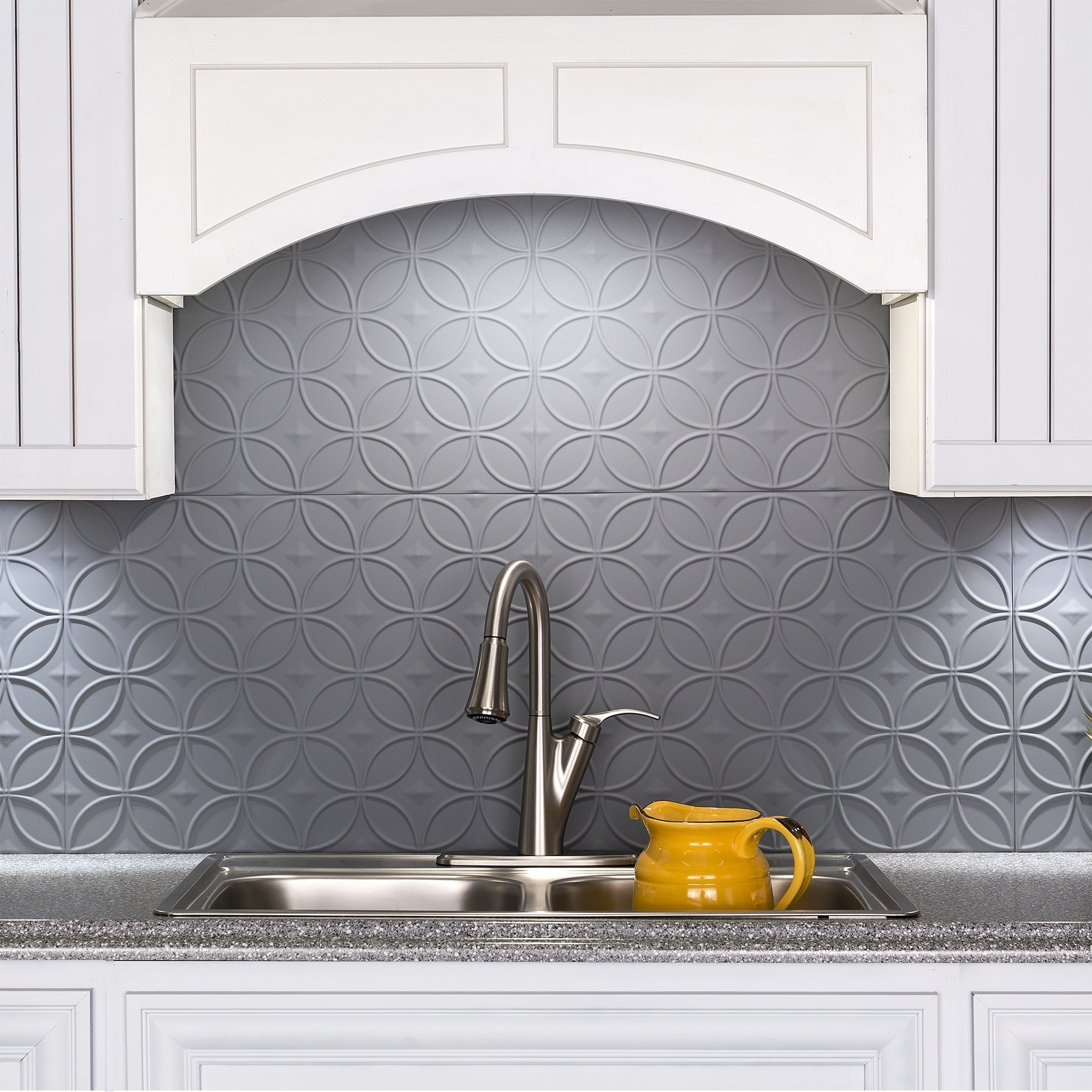 - Shop Fasade Rings Titanium Grey 18 Inch X 24 Inch Backsplash Panel