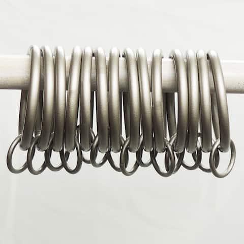Radiance Pewter Infinity Curtain Ring Set