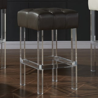 Noor Bonded-leather/Acrylic Counter Stool